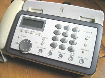 Brother FAX T78, phone, copy,  with new 2 print cartridges and the manual