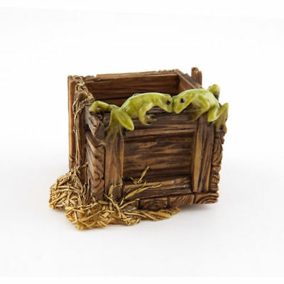 My Fairy Gardens Frogs on Wood Crate Accessories Figure Miniature