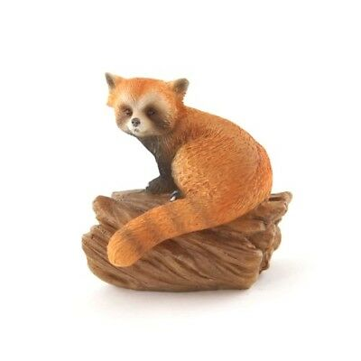 My Fairy Gardens Mini Red Panda on Stump Accessories Figure Miniature
