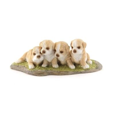 My Fairy Gardens Mini Four Puppies Accessories Figure Miniature 4633