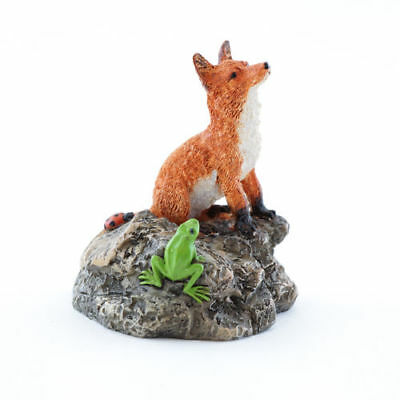 My Fairy Gardens Mini Red Fox with Frog Accessories Figure Miniature 4652