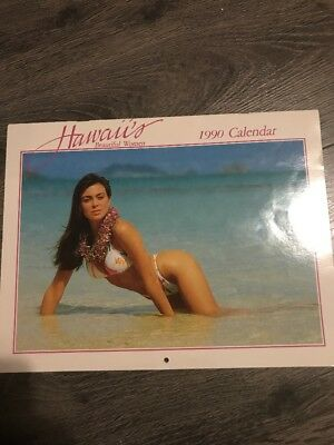 Hawaii's Beautiful Women 1990 Calender RARE Pin-Up Vintage Bikini