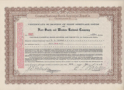 Central Nationalbank Savings&Trust.Co.Forth Smith and Western Railroad Comp.1925