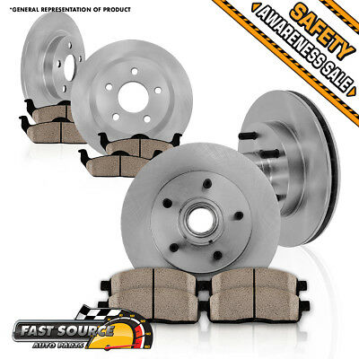 Front and Rear OE Brake Disc Rotors & Ceramic Pads Kit 1997 1998 1999 AUDI A4