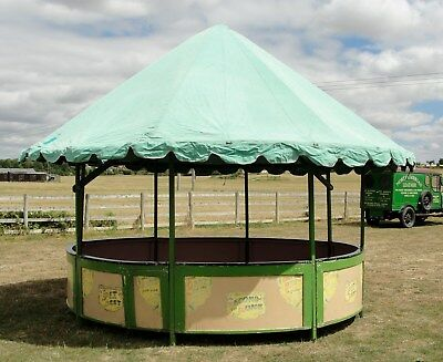 VINTAGE FAIRGROUND ROUND STALL COMPLETE in NICE CONDT ideal for GARDEN or FETES