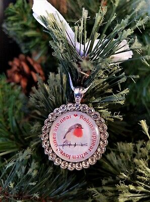 Robin s Appear When Loved Ones Are Near Christmas Tree Charm Small Bauble Gift