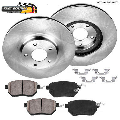 Ceramic Pad Fits 1999-2005 Pontiac Grand Am 4 Front Drilled Slotted Rotors 2