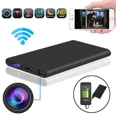 HD 1080P Power Bank Spy Hidden Camera Night Vision DVR WIFI Recorder 5000mAh