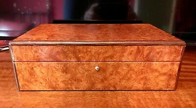 Hillwood London Cigar Humidor, Makah Burlwood, Excellent Condition