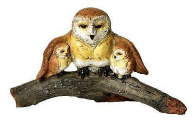 My Fairy Gardens Owl with babies on Branch Accessories Figure Miniature 4062