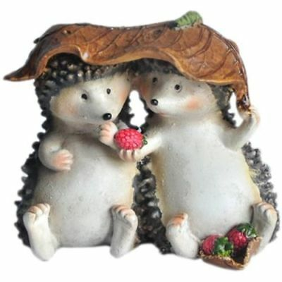 My Fairy Gardens Hedgehogs Sharing Accessories Figure Miniature 4074