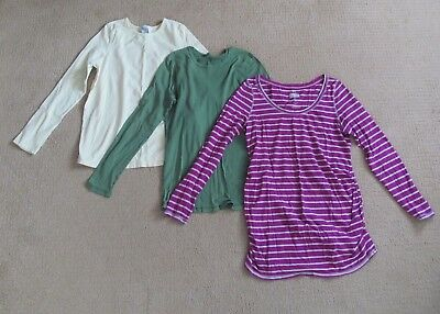 Lot of 3 Old Navy Maternity Long Sleeve Tees Shirts Tops Large green yellow purp