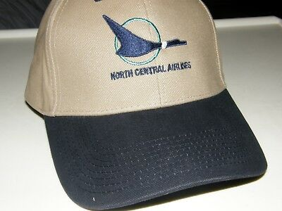 North Central Airline Baseball Cap Northwest Nwa Pilot Republic Herman Duck Logo