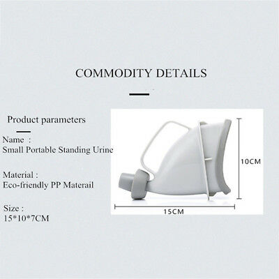 Portable Handle Urine Bottle Urinal Camp Urination Device Ergonomic Re-usable