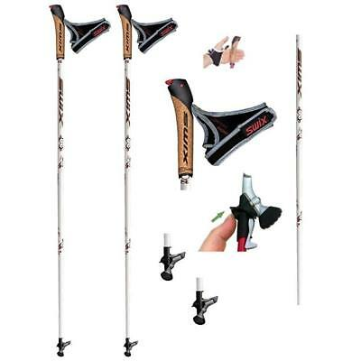 Swix Bm3 Cork Just Click - Twist & Go* Nordic Walking Stöcke * 80% Carbon - Neu