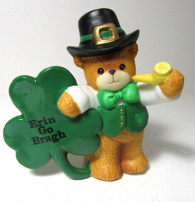 Lucy & Me ~ ERIN GO BRAGH ~ St. Patrick's Day Irish Shamrock Figurine