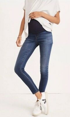 New Madewell Maternity Over-the-Belly Skinny Jeans Tencel Edition Sz 30 G838