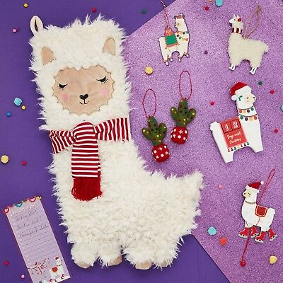 Sass & Belle Llama Christmas Stocking - Childrens Kids Nursery - Fa La La Llama