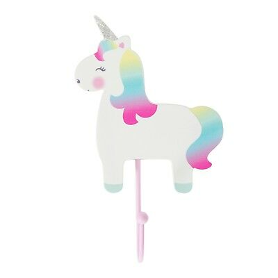 Sass & Belle Rainbow Unicorn Hook - Childrens Kids Nursery