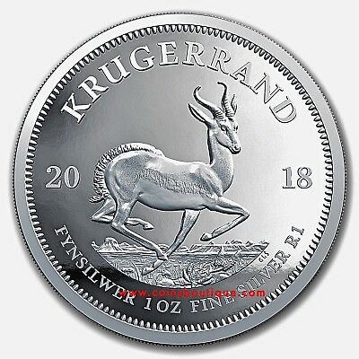 2018 KRUGERRAND 1oz Proof Silver Coin South Africa with COA and BOX