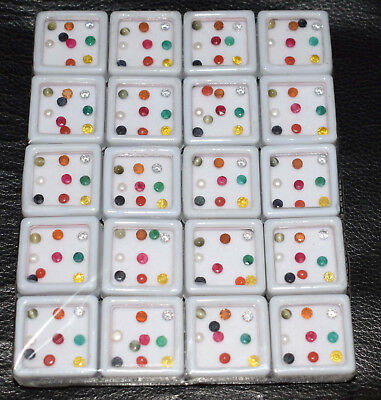 Wholesale Lot 100% Natural Navratan 4 mm 9 Multi-Gemstones Shape Round Box AAA+.