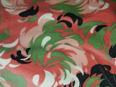 Over 2 Yards of 1930s PRINTED ART DECO FRENCH VELVET NEver Used Very COOL Design