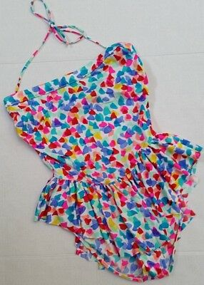 Vintage COLE OF CALIFORNIA ONE PIECE Bathing Swim Suit - High Cut w/ Skirt - M/L