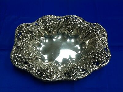 Sterling Silver Grape Vine Repousse Bowl 460.6 Grams made by Gorham A887M