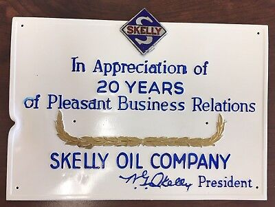 Skelly Oil Company Plaque