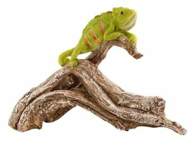 My Fairy Gardens Chameleon on Tree Branch Lizard Figure Miniature 4452