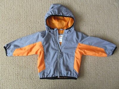 Baby/Toddler Boy Circo Spring Fall Windbreaker Jacket 12 mos. gray orange EUC