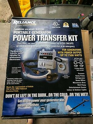 Reliance Controls 31406CRK 30 Amp 6-circuit Pro / Transfer Generator Switch Kit