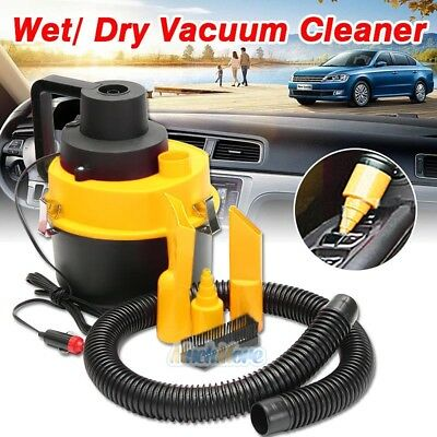 For Car Home 60W Wet Dry Vacuum Cleaner Inflator Portable Turbo Hand Held DC12V