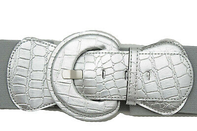 FEMME ARGENT CONFORTABLE Western Mode Ceinture Large Simili Cuir ... 76ddcacadbc