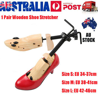 1 Pair 2-Way Wooden Shoes Stretcher Expander Adjustable Cedar Shoe Tree Unisex