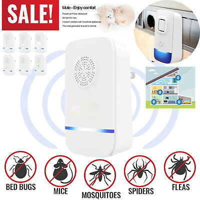 Ultrasonic Pest Repeller Control Bed Bugs Fleas Ants Spiders Rats Mice Rodents