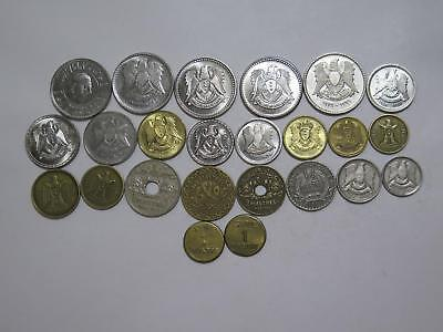 Syrian Arab Republic Middle East Piastres Wwii Mixed World Coin Collection Lot