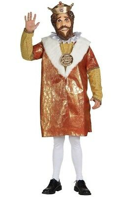Burger King Adult COSTUME Full Mask With Cape 2007 Rubies Costume Co.