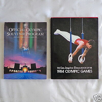 1984 Official Olympic Souvenir Program + La Times Book Of The Olympic Games