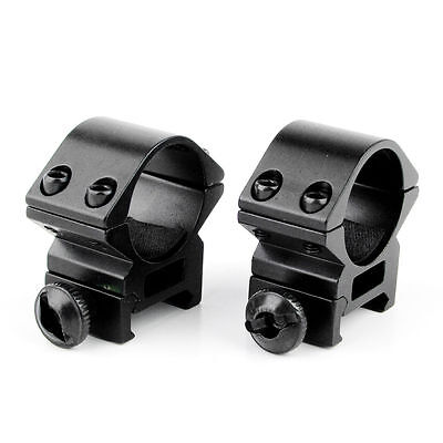 """2Pcs Low Profile 1"""" 25.4mm Ring 20mmPicatinny Rail Scope mount for rifle hunting"""