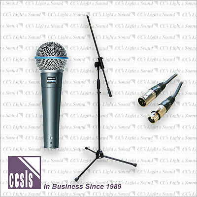 Shure BETA58A Microphone with 9M XLR Lead and Heavy Duty Boom Stand