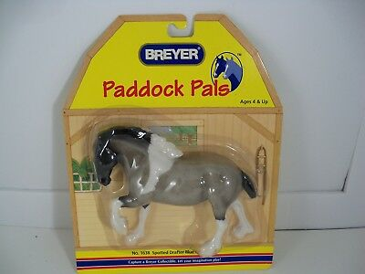 Breyer Paddock Pals Spotted Drafter Blue Roan Pinto Horse #1638 NEW in Pkg