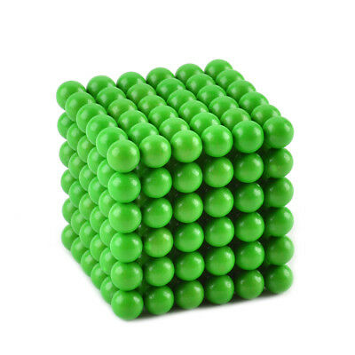 Green 5mm Glow-in-the-Dark Neodymium Iron Balls DIY Puzzle Set (216 PCS)