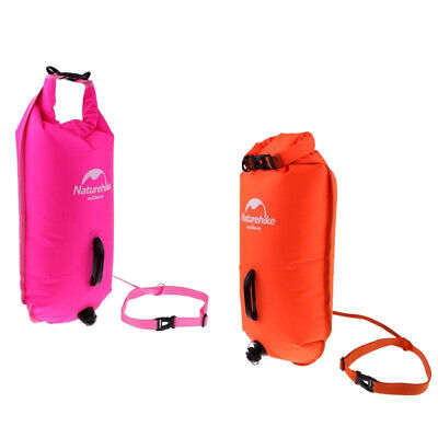Set 2 Inflatable Dry Bag Safety Pool Swim Buoy Tow Float Training Equipment