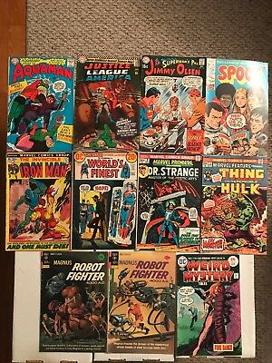 LOT OF 11 SILVER/BRONZE AGE COMICS (1966-1975) DC! Marvel! Gold Key! VG