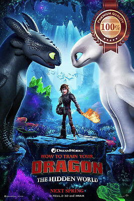 New How To Train Your Dragon - The Hidden World Movie Film Print Premium Poster