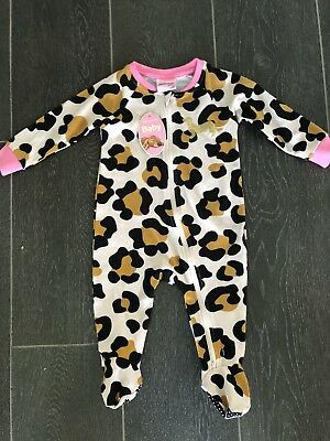 BNWT PETER ALEXANDER Baby Leopard Romper Size 6-9 Months RRP$45.95