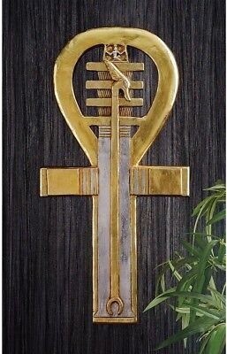 Ankh Wall Sculpture Egyptian Sign Gold Classy Style Home Decor Display Quality