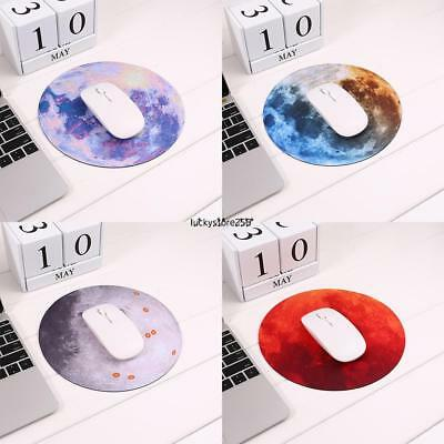 Non-Slip Moon Pattern Round Mouse Pad For Computer LKR8