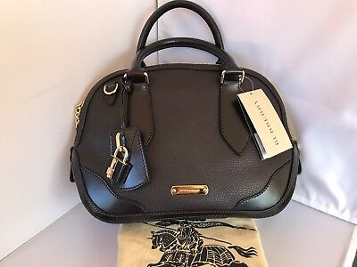a60cfd5ac48 Burberry Grainy Leather Chocolate Brown Orchard Bowling Small Retail $1695